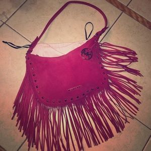 MICHAEL Michael Kors Pink fringe with gold studs